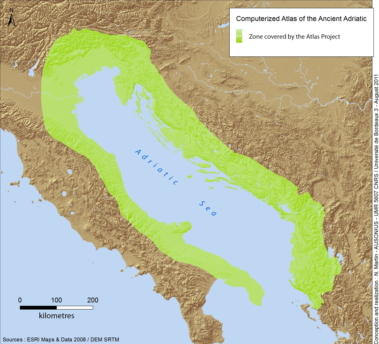 The Adriatic study area::Geographic constraints of the computerized atlas for the Ancient Adriatic